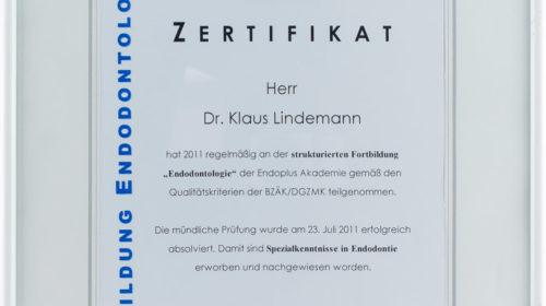 Zertifikat Endodontologie